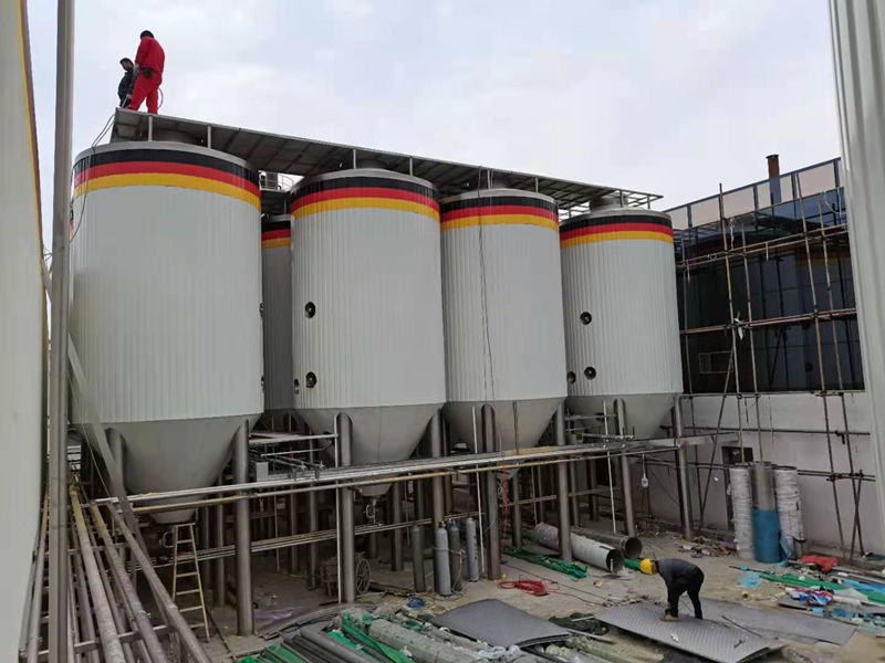 WEMAC 5000L 10000L Double wall jacketed stainless steel beer fermentation tanks sale well ZXF