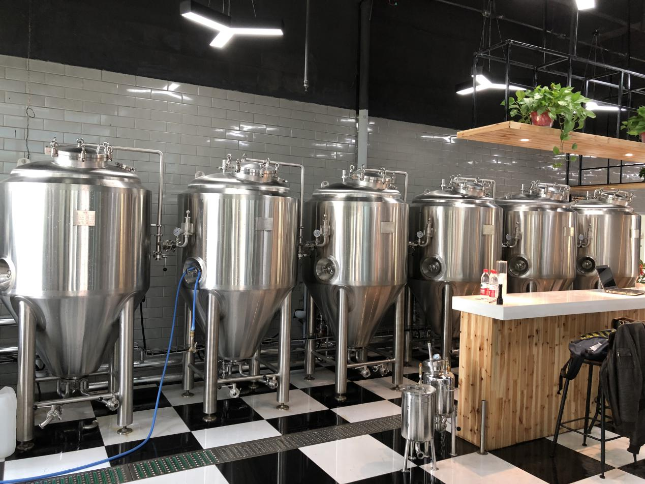 China manufacturer WEMAC all size beer brewing conical fermenters with manhole and accessories