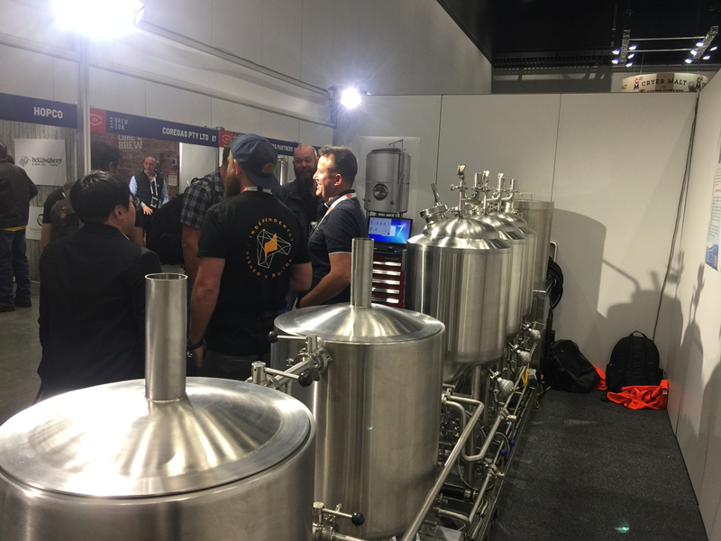50L Micro Beer Brewery lab brewing equipment in exhibition   ZXF