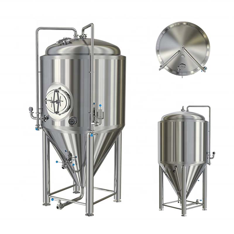 1000L 10HL Double wall conical jacketed fermenter supplies and manufacturer  ZXF