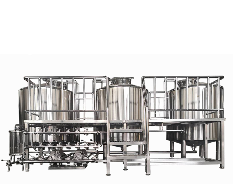 500L brew system brewery equipment 3 vessels beer fermenting turnkey plant for bar  ZXF